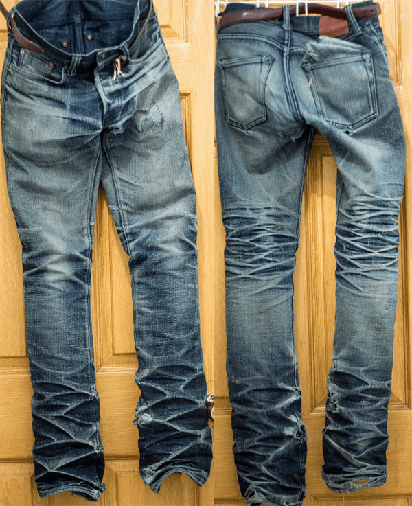 Larry Kwok, Pure Blue Japans after 25 months, 5 washes