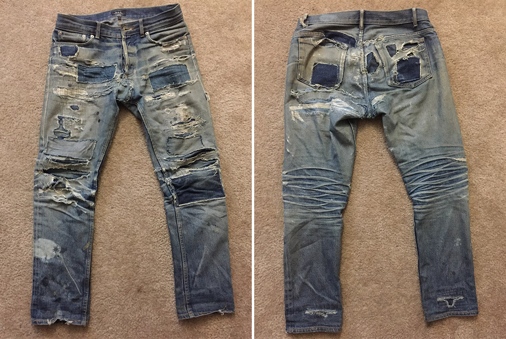 Fade Friday - A.P.C. Petit Standard (5 Years, 6 Months, Unknown Washes, Unknown Soaks)