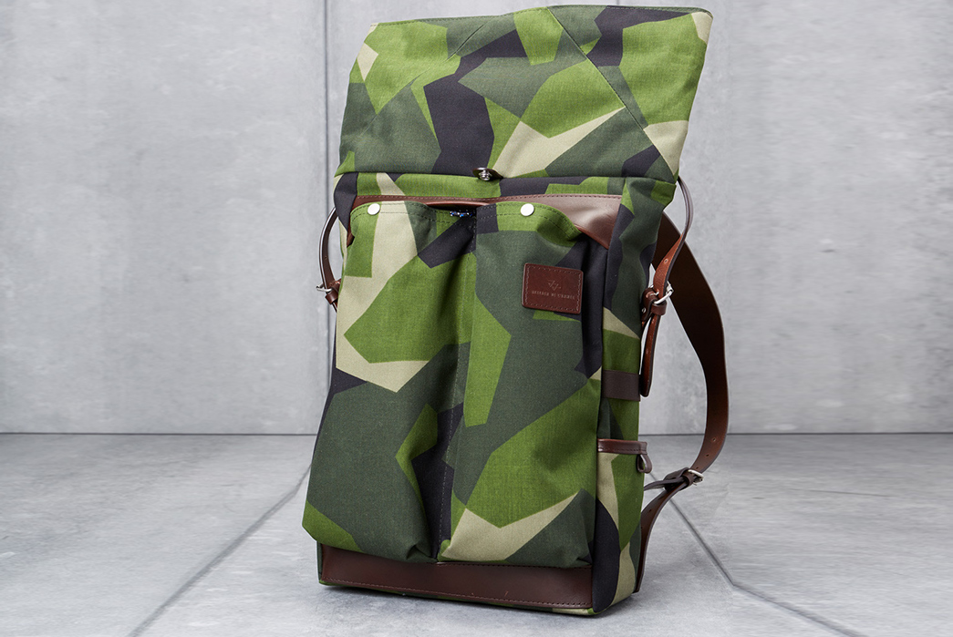 Atelier-de-L'Armee's-Flight-Pack-Uses-Deadstock-Swedish-M90-Camo-front-open
