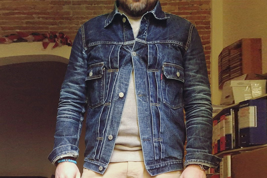Fade-Friday---TCB-'50s-Type-II-Jacket-(3.5-Years,-12-Washes,-1-Soak)-modal-front