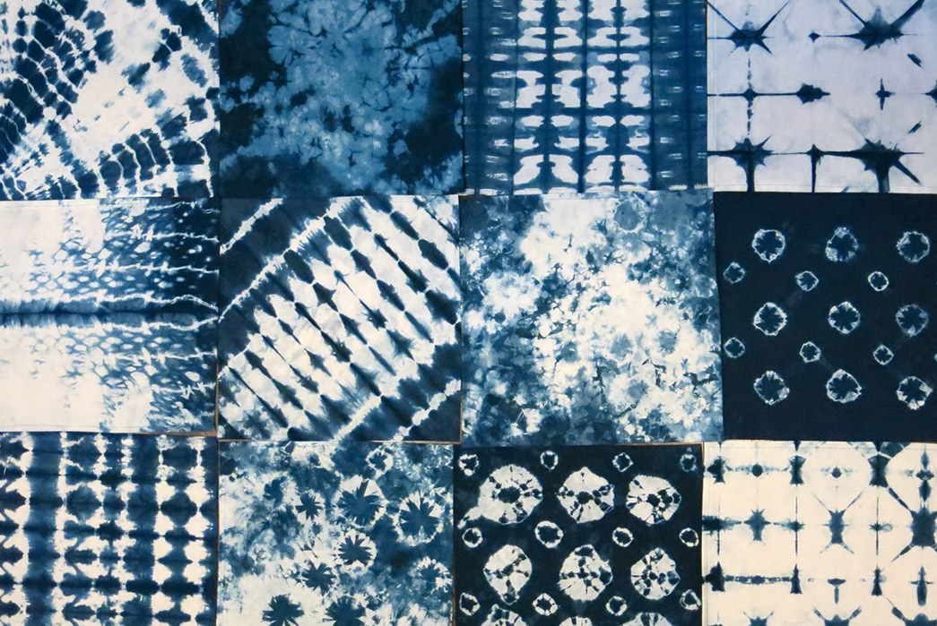 Shibori - Indigo Tie Dye via Ancient Japan